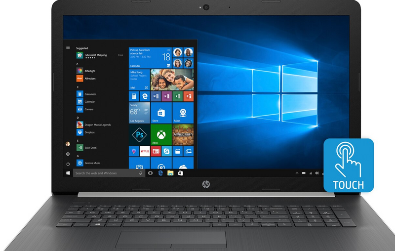 "HP 17-by0017cy 17"" Touch Laptop Intel I5-8250U 8GB 1TB/16GB Optane Win10  - B"