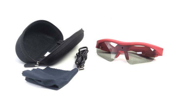 Que Video Camera Glasses with Full HD with case Red - A