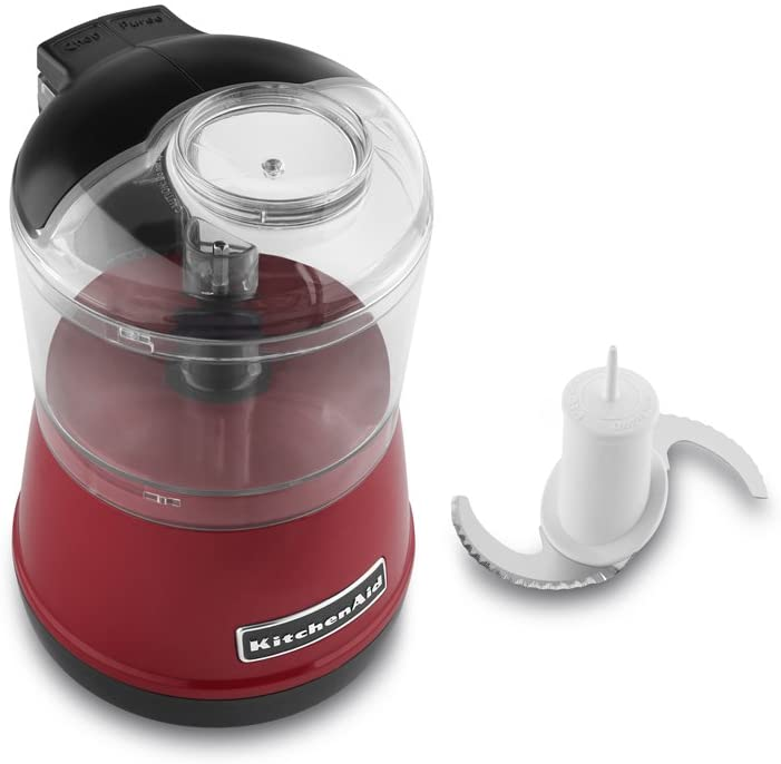 KitchenAid 3.5-Cup One-Touch 2-Speed Chopper Red - A