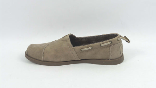 Skechers BOBs Microleather Slip-On Shoes Chill Luxe Taupe - NEW