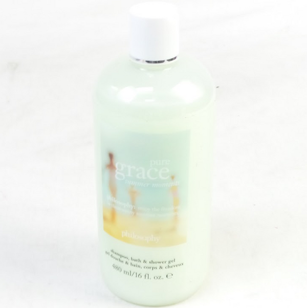 Philosophy Pure Grace Summer Moments Shampoo Bath Shower Gel 16 Oz. - NEW