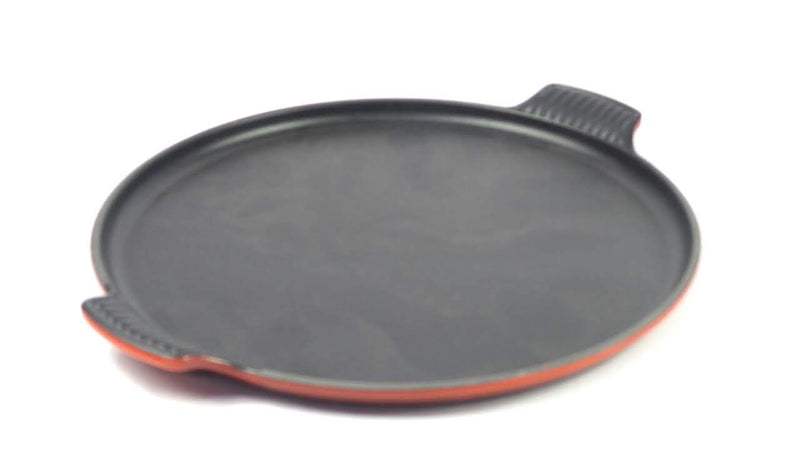 "Le Creuset 12.25"" Palm Round Cast-Iron Griddle Cherry - A"