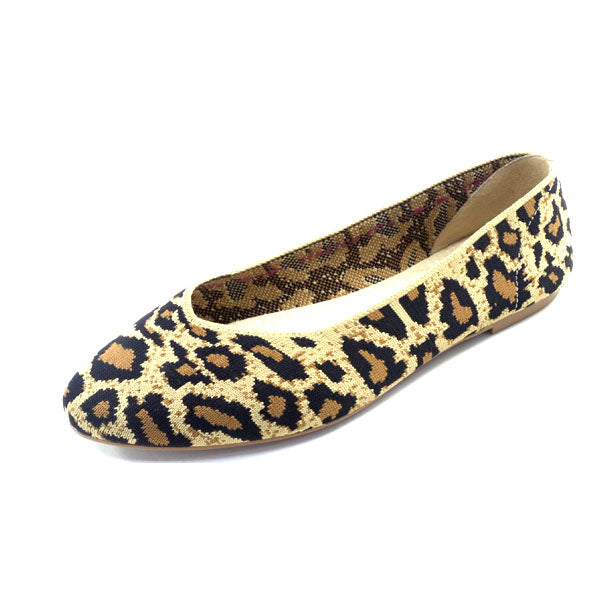 Skechers Animal Print Washable Knit Slip On Cleo Claw-Some Natural - NEW