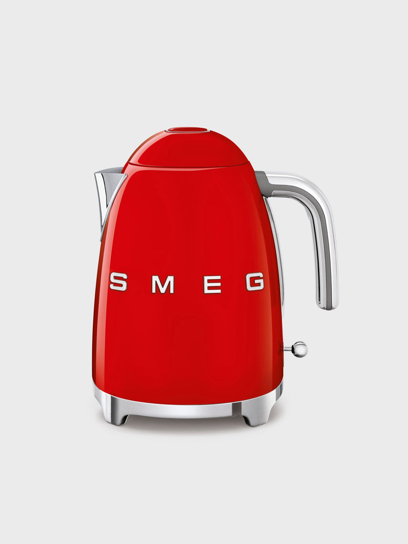 SMEG 50s Retro-Style 1.7-Liter Electric Kettle Red - A