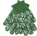 Temp-tations Oven Safe Gloves with Silicone Accents Green - NEW