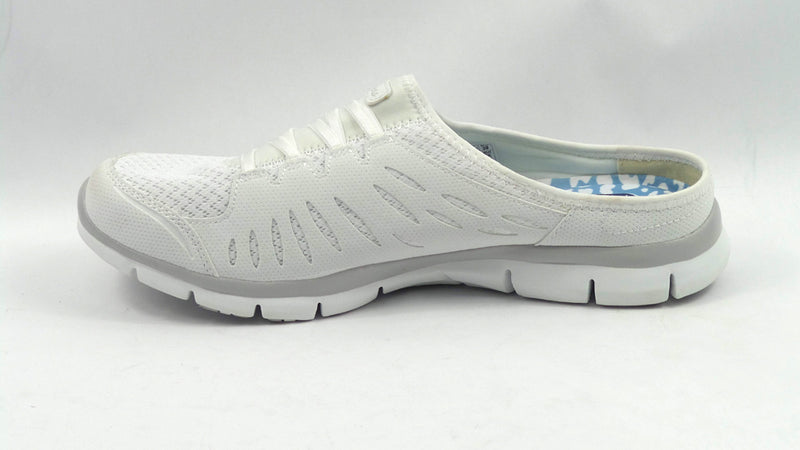 Skechers Mesh Slip-on Mules Gratis No-Limits White - A