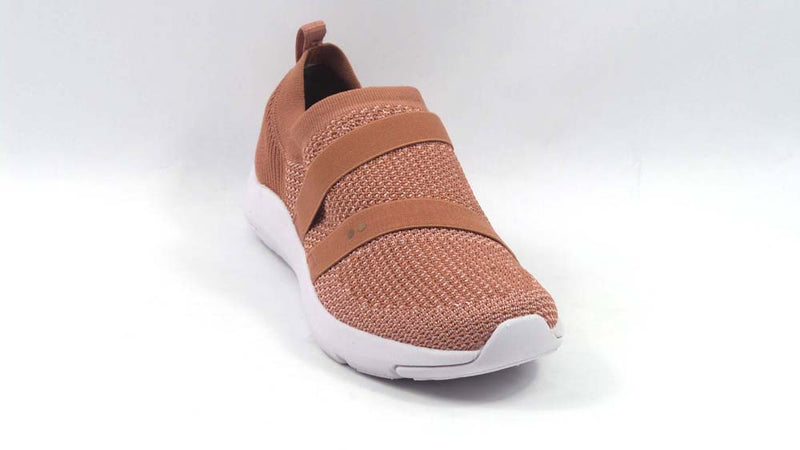 Ryka Stretch Knit Slip-On Shoes Ethereal Tea Rose - NEW