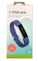 Fitbit Ace Kids Ages 8+ Activity Tracker Power Purple/Stainless Steel - B
