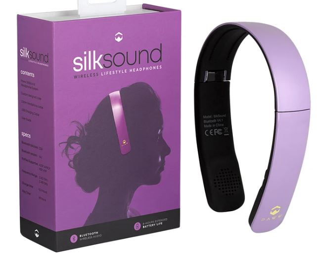 Paww Silksound Headphones On-Ear Wireless Bluetooth Lavender Crystal - NEW