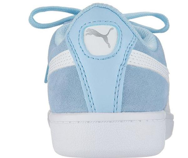 PUMA Suede Lace-Up Sneakers Vikky Classic Cerulean - NEW