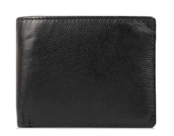 Karla Hanson Men's Leather Wallet with Card Insert Black - NEW