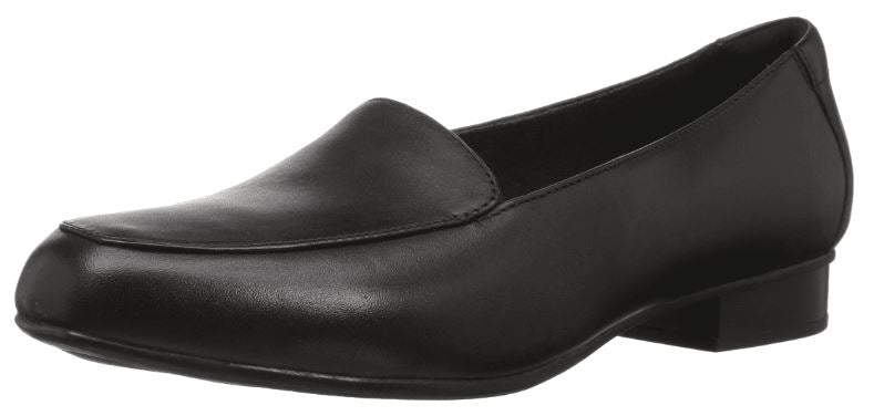 Clarks Collection Leather Slip-On Loafers Juliet Lora Black - A