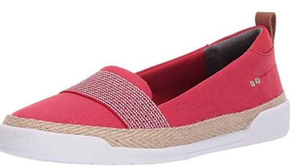 Ryka Canvas Slip-On Shoes Opal True Red - NEW