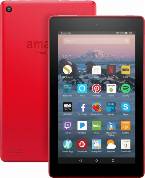 "Amazon Fire SR043KL 7"" 8GB  (7th Gen) Wifi Tablet Red - B"