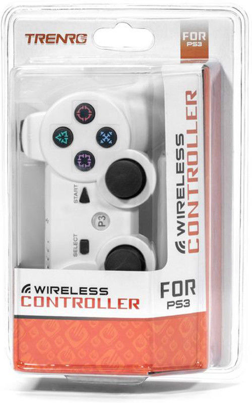 Trenro PS3 Wireless Controller White with Rechargeable Battery - NEW