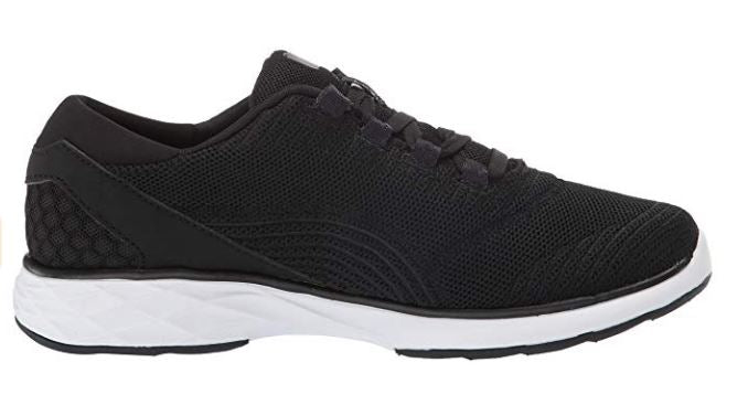Ryka Knit Lace-Up Sneakers Lexi Black - NEW