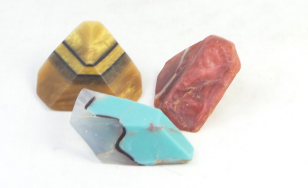 SoapRockettes Legacy Gemstone Soap Rock Fall -Set of 3 - NEW