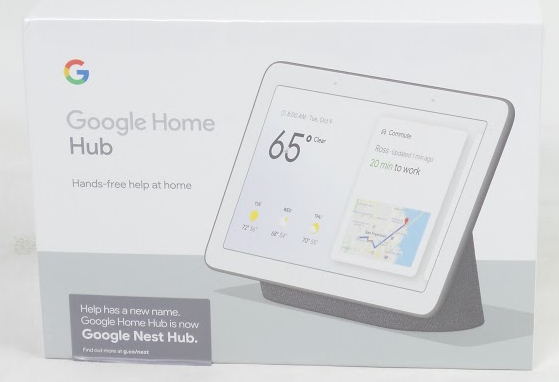 "Google Nest Hub GA00515-US 7"" Touchscreen w/Google Assistant Black - A"
