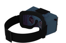 SmartTheater Virtual Reality Headset Goggles Storage Charcoal Grey - NEW