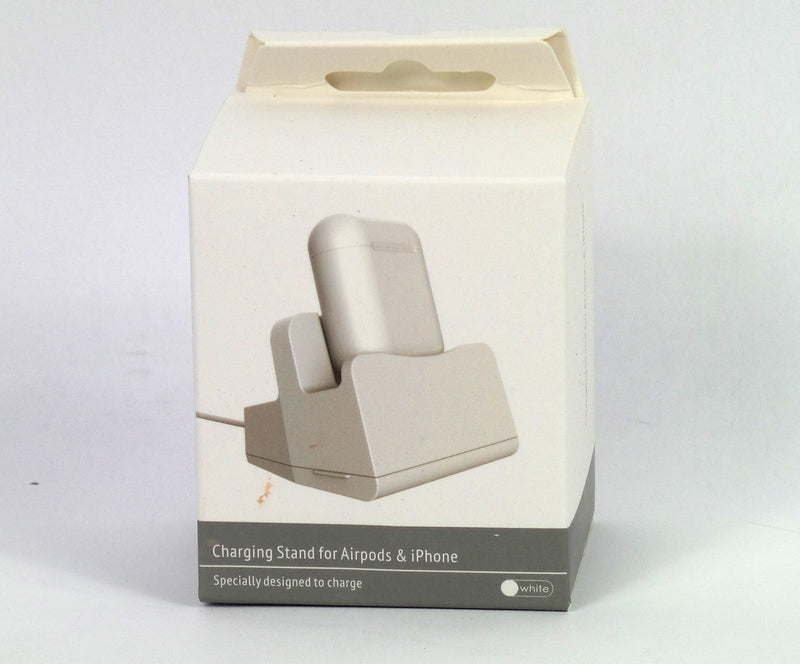 2 In 1 Charging Stand for Airpods and iPhone White - NEW