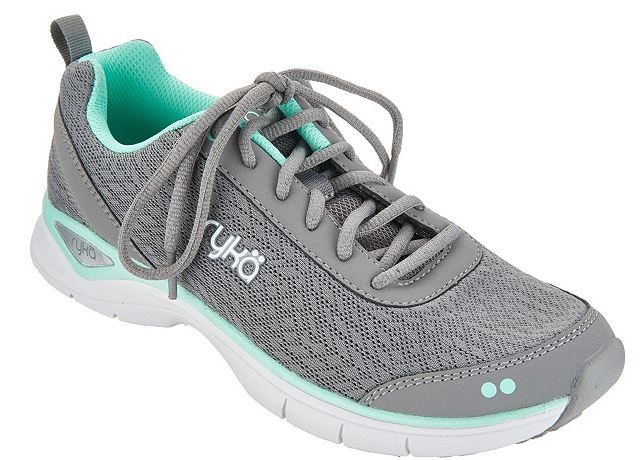 Ryka Mesh Lace-up Walking Sneakers Rayne Frost Grey - NEW