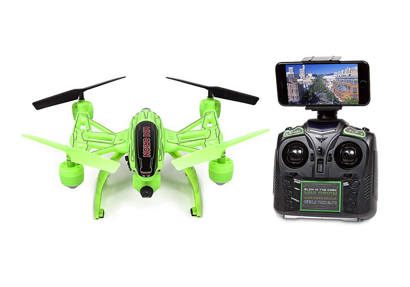 World Tech Toys Mini Orion Spy Drone Live View Quadcopter Green - A