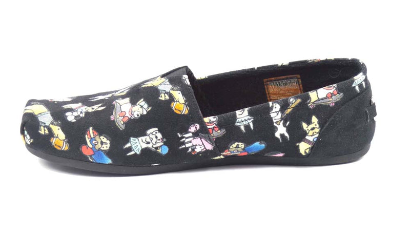 Skechers BOBS Slip-on Shoes Sporty Dogs Black - A