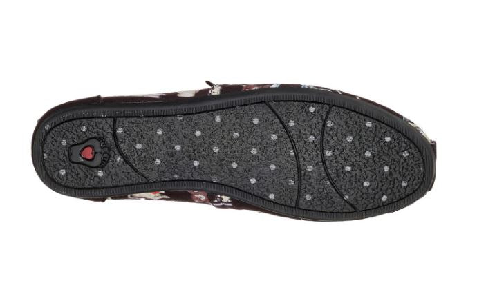 Skechers BOBS Slip-On Shoes Studious Cats Black - NEW
