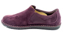 Clarks Collection Suede Slip-On Shoes Tamitha Gwyn Aubergine - NEW