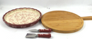 Temp-tations Floral Lace 5-Piece Cheeseboard Set Cranberry - NEW