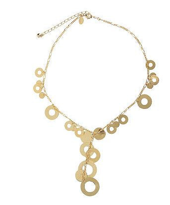 Francesca Visconti's Textured Circle Adjustable Necklace - NEW