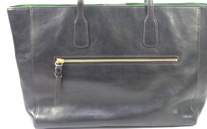 Dooney & Bourke Florentine Leather Large Ashton Tote Black/Black - A
