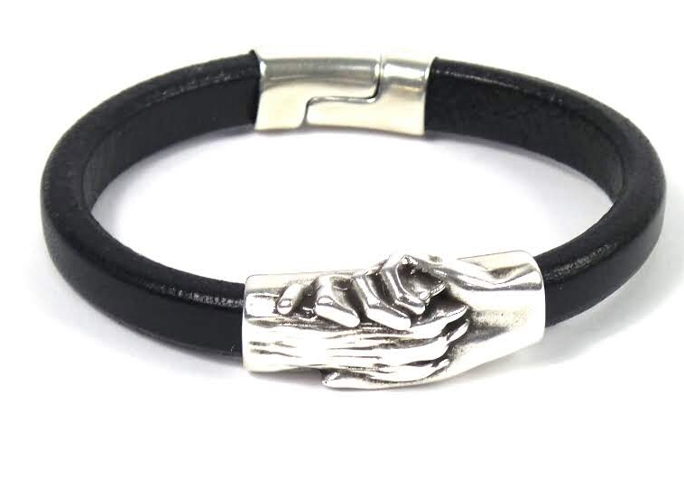 Hand & Paw Project Leather Bracelet Handcrafted Black NWT - NEW