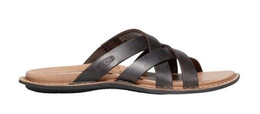 KEEN Leather Slip-On Slide Sandals Sofia Mulch - NEW