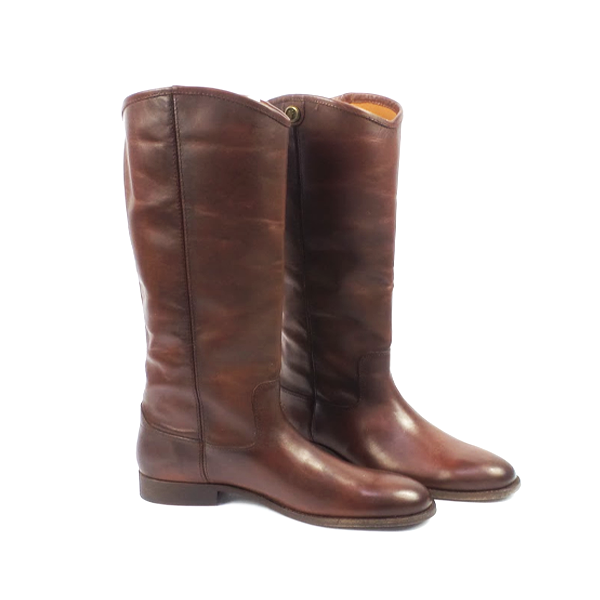 Frye Leather Tall Shaft Pull-on Boots Melissa Button 2 Redwood - A