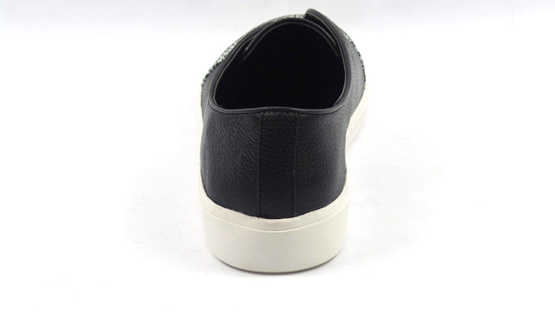 LOGO by Lori Goldstein Leather Slip-On Sneakers with Goring Black - A