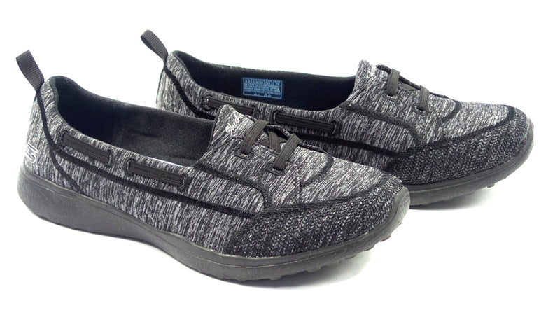Skechers Microburst Bungee Slip-On Shoes Topnotch Black - A