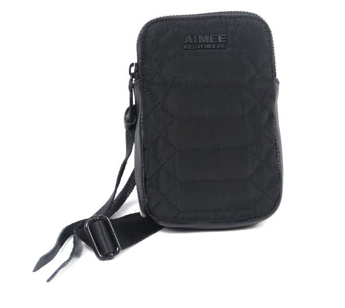 Aimee Kestenberg Nylon Crossbody Bag Just Saying Black - NEW