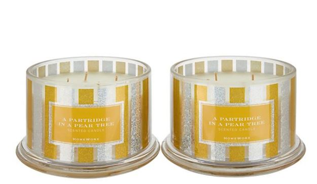 HomeWorx by Harry Slatkin Set of 2 18Oz Pear Tree 4-Wick Candles - NEW