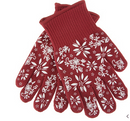 Temp-tations Oven Safe Gloves with Silicone Accents Cranberry - NEW