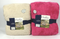 "Berkshire Blanket Set of 2 Super Soft 55""x 70"" Throws Pink Sand - NEW"