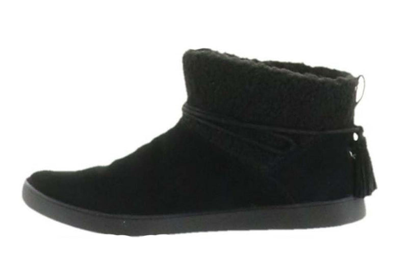 Koolaburra By UGG Faux Fur Ankle Boots Tie Isana Black - NEW