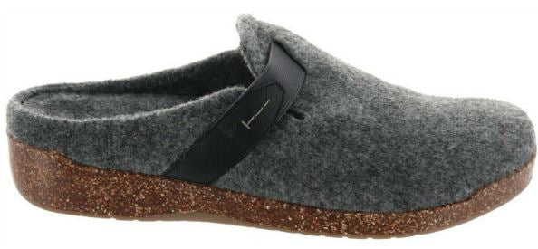 Earth Origins Felt Slip-On Clogs with Strap Detail Jenna Grey - A