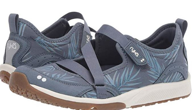 Ryka Adjustable Mesh Mary Jane Sneakers Spring Denim - A