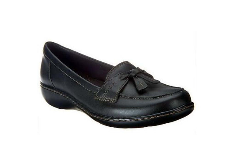 Clarks Collection Slip on Loafers Ashland Bubble Black - A