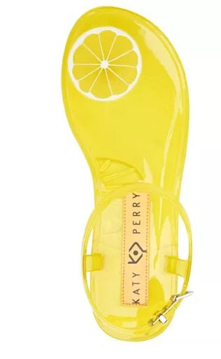 Katy Perry Scented Jelly Thong Sandals The Geli Lemon - NEW