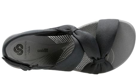 CLOUDSTEPPERS by Clarks Sport Sandals Arla Primrose Black - NEW