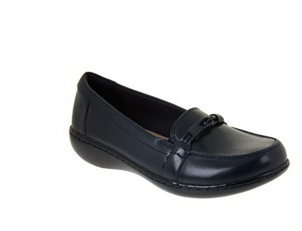 Clarks Collection  Ashland Ballot Leather Loafer Navy - A