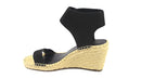 Vince Camuto Leather Ankle Strap Espadrilles Levista Black - NEW