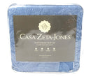 Casa Zeta-Jones Reversible Queen Cotton Coverlet Set Blue - NEW